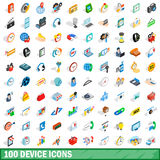 100 device icons set, isometric 3d style Stock Photography
