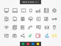 Device icons set Stock Photos