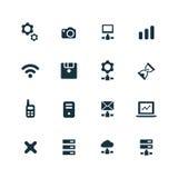 Device icons set Stock Photo