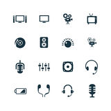 Device icons set Royalty Free Stock Images
