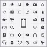 Device icons universal set Royalty Free Stock Image