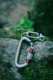 Device for insurance climbers stock photos