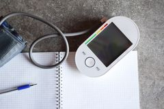 Device for measurement of arterial pressure stock photography