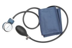 Device measuring blood pressure Stock Images