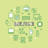 Device minimal outline icons Royalty Free Stock Photos