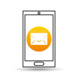 Device mobile icon email message social media graphic Royalty Free Stock Photo