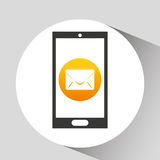 Device mobile icon email message social media graphic Stock Photography