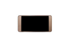 Device mobile telephone on white background is insulated. Colour gray Royalty Free Stock Photography