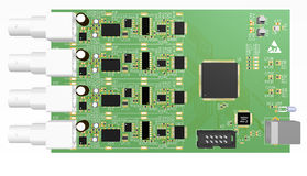 Device PCB green with elements Royalty Free Stock Photo