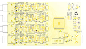 Device PCB yellow Royalty Free Stock Image