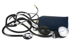 A device reading blood pressure Stock Image