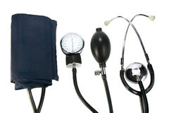A device reading blood pressure Royalty Free Stock Photos