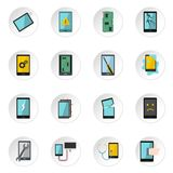 Device repair symbols icons set in flat style Stock Photo