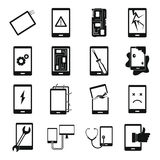 Device repair symbols icons set, simple style. Device repair symbols icons set. Simple illustration of 16 device repair symbols vector icons for web Stock Photo