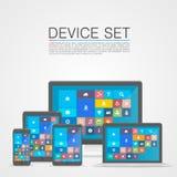 Device Set flat Royalty Free Stock Photo