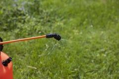 Device of spraying pesticide. Stock Photo