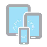 Device Sync Stock Photo