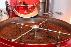 Device to roasting and drying coffee beans Royalty Free Stock Images