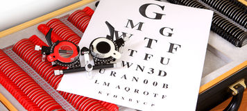 Device to the sight testing Royalty Free Stock Photography