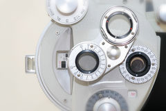 Device to the sight-testing stock images