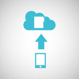 Device transfer cloud file folder. Vector illustration eps 10 Royalty Free Stock Image
