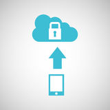 Device transfer cloud protection data. Vector illustration eps 10 Stock Photography