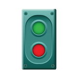 Device with two buttons. Vector. Stock Images