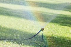 Device for watering gardens and parks. stock photography