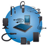 Devices accessories Royalty Free Stock Images