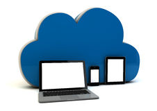 Devices on the cloud Royalty Free Stock Photo