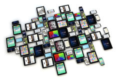 Devices collection isolated Stock Photos