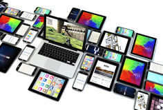 Devices collection Royalty Free Stock Images