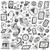 Devices , computers - doodles set Stock Photography