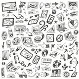 Devices , computers - doodles set Stock Photos