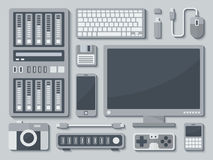 Devices in Flat Style royalty free illustration