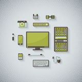 Devices in Flat Style Stock Images