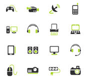 Devices icon set Stock Photos