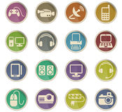 Devices icon set Royalty Free Stock Photos