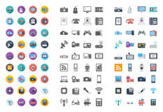 Devices icons flat icon. Devices icons set. Flat vector related different styles icons set for web and mobile applications. It can be used as - logo, pictogram Royalty Free Stock Photos