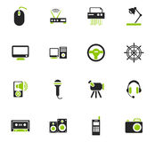 Devices icons set Stock Image