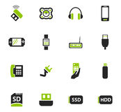 Devices icons set Royalty Free Stock Images