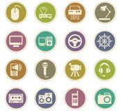 Devices icons set Stock Images