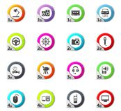 Devices icons set Royalty Free Stock Image