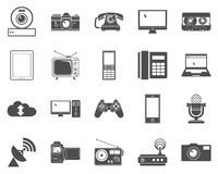 Devices icons. Stock Images