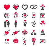 Love icon set. Vector and illustration royalty free illustration