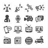 News icon set. Vector and illustration royalty free illustration