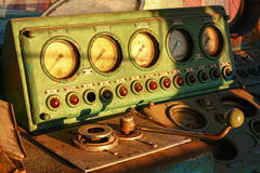 Devices of an old electric locomotive, Rostov-on-Don, Russia, March 14, 2011 Stock Photo