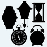 Devices quantifiable time, different clock Stock Photos