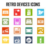 Devices retro old set icon Royalty Free Stock Image