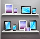Devices On Shelves Stock Image